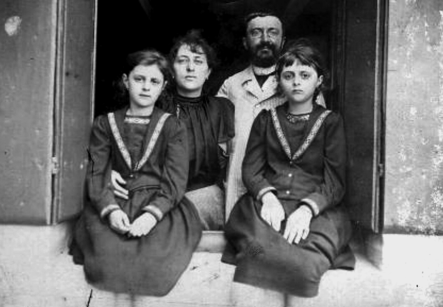 Alfred Binet, ailesiyle.