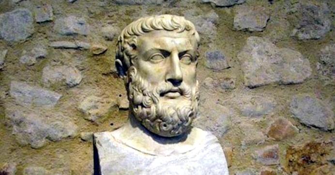 Parmenides, Elea Okulu'nun sistematik kurucusudur.