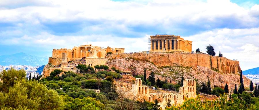 Pnyx tepesindeki Atina meclis binası.
