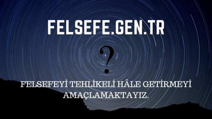 felsefe Nedir