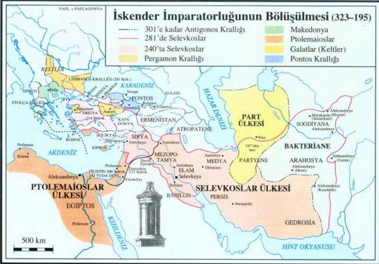 İskender'in Ölümünden Sonra Topraklarının Bölüşülmesi