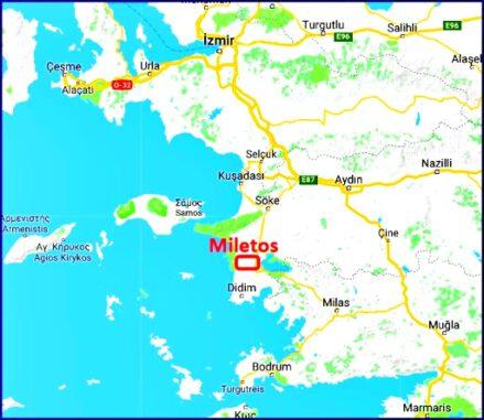 İyonya; Milet, Efes, Foça ve İzmir çevresinde kurulmuş bir uygarlıktır. Felsefenin doğduğu yer olarak bilinen Miletos, bu bölgede yer almaktadır.