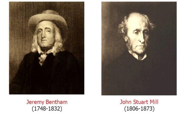 Jeremy Bentham ve John Stuart Mill, utilitarizm akımının temsilcileridir.