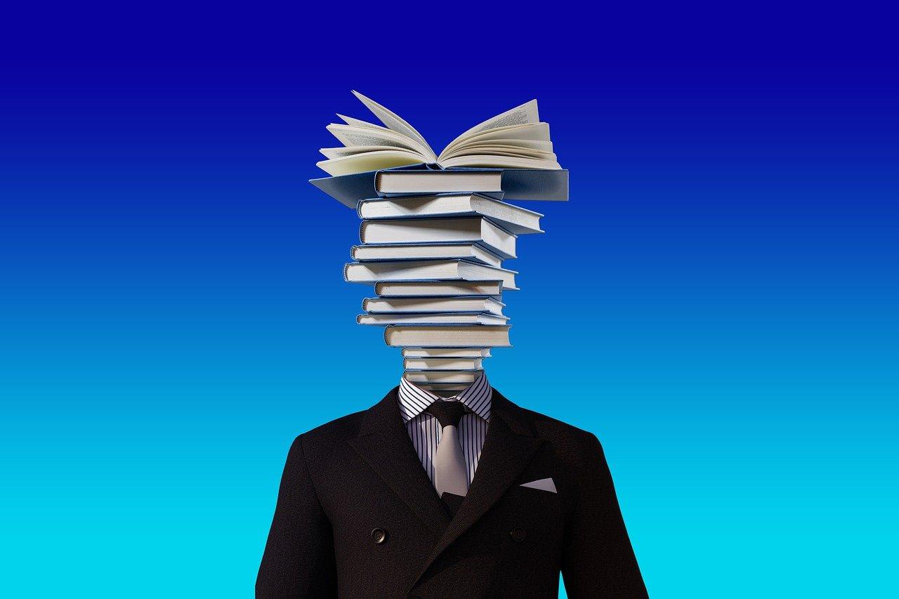 kitap, kafa, insan, kravat, takım elbise