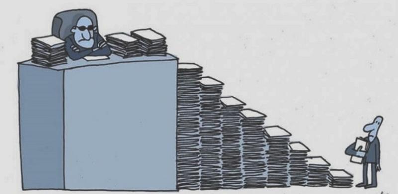 Bürokrasi, bir memur egemenliğidir.