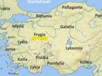 Frigya Uygarlığı Haritası