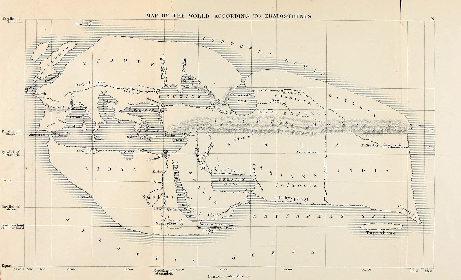 Eratosthenes'in Dünya Haritası