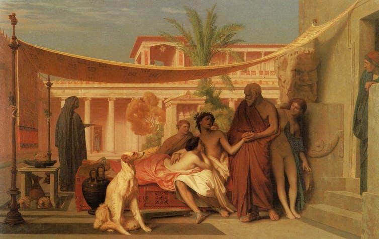 Sokrates, Aspasia'nın Evinde