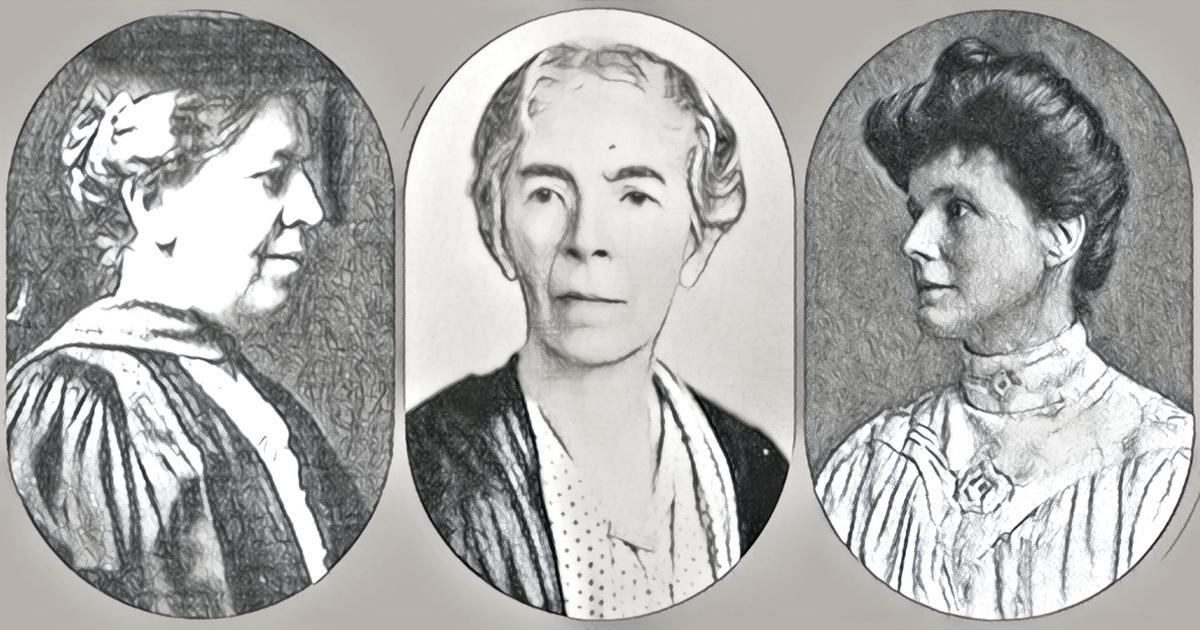 Soldan sağa: Mary Calkins, Hilda Oakeley, May Sinclair.