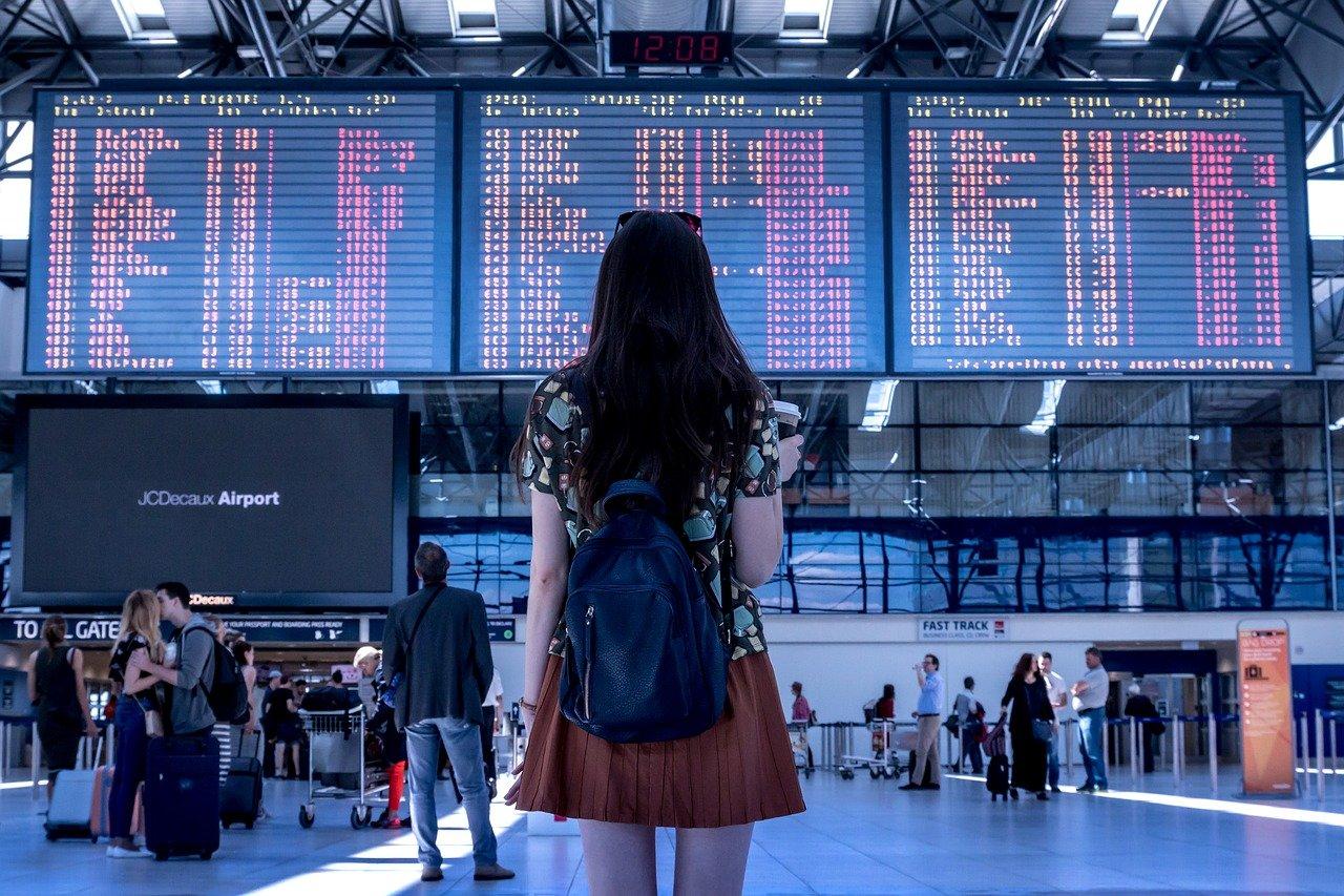 havalimanı, uçak, yolculuk, tatil